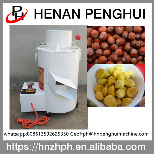 Commercial chinese chestnut skin removing peeler machine