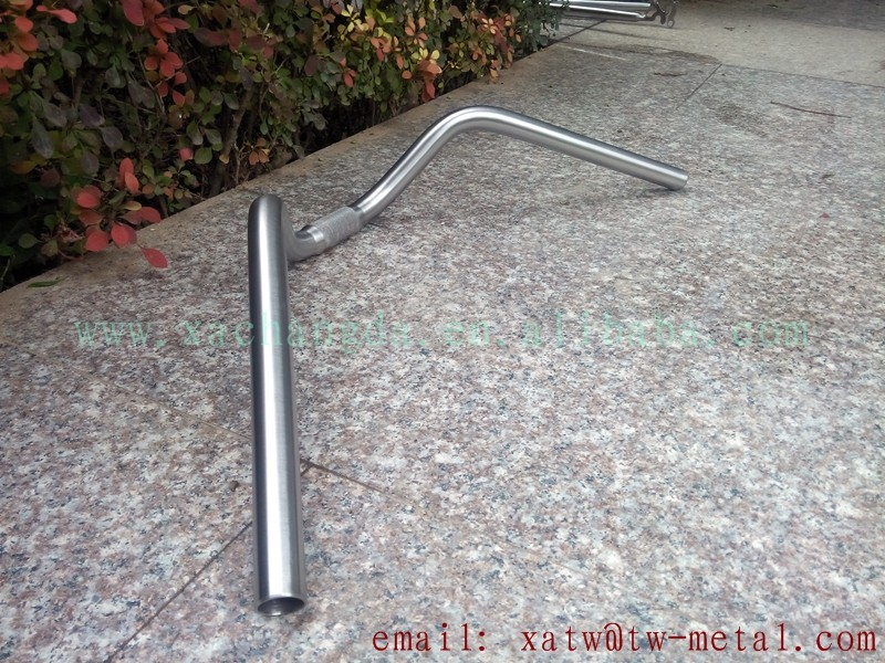 titanium swallow shape handle bar Ti bicycle handle bar custom titanium drop and rise handle bar