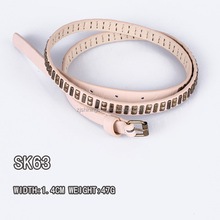 2016 newest trendy pu belt with beads China factory belts
