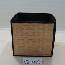 Collapsible Storage Basket Lined Basket Woven
