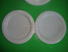 Factory Food Grade PS Cheap White Hard Plastic Disposable Plates