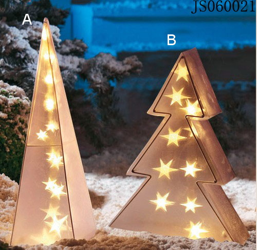 Plastic pyramid or Christmas tree decor with led light, with outdoor adapter, 2016 New Christmas led string light