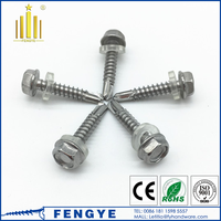 stainless steel flange head self drill screw with washer attached