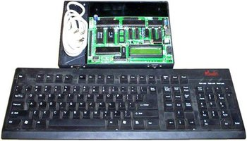 8085 MICROPROCESOR TRAINING KIT WITH LCD DISPLAY & & INBUILT POWER SUPPLY AND COMPUTER KEYBOARD