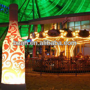 Beauty Advertising Inflatable Bottle With LED Light