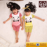 (AG002)2-6Y In stock anti-bacterial girls sleepwear kids pyjamas casual girls bedroom sets