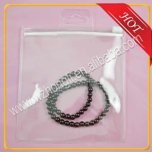 ziplock pvc packing bag for jewelry