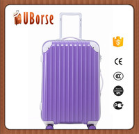 "HOT SALE ABS + PC aluminum frame trolley luggage case with 20 "" 24 "" 28 """