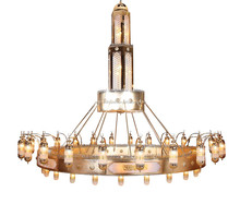 Mosque large gold islamic project chandelier