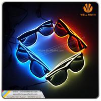 2016 Hotsale Style Fashion Ray-Ban Light Up EL Wire LED Sunglasses Halloween toy led glasses