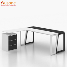 Hot selling l shaped table office furniture wooden office computer table l shape desk