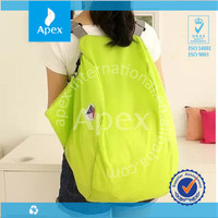 Fashion polyester foldable travel bag shoulder backpack