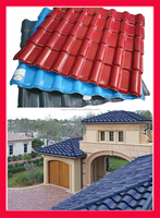 Lightweight synthetic resin roof tiles