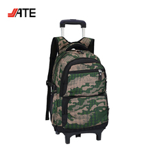Camo Campus Trolley Carry on Travel Luggage Bags Fashion Rolling Pull Bags for School