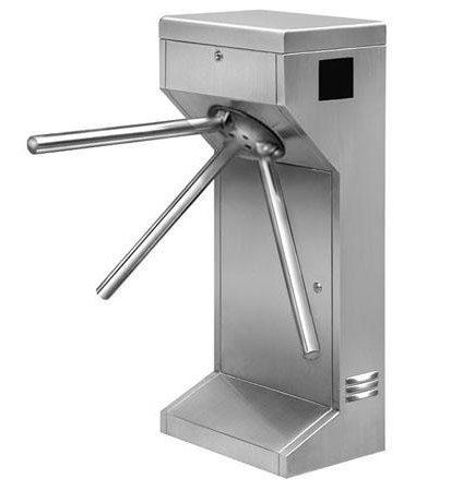 Fingerprint Drop Arm Turnstile , Lobby Access Control Electronic Barrier Gates