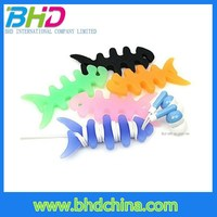 New arrival silicone fishbone bobbin cable winder fo headphone