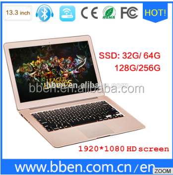 2016 New laptops in Shenzhen! 13.3 inch low price mini laptop with Windows 10 Intel Core i5 5200u 8gb ram 256gb SSD