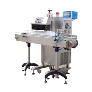 Pet bottle filling aluminum foil sealing machine and labeling machine