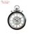 Hot selling USA silver white metal retro watch shaped watch wall clock