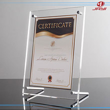 Alibaba china Jayi Acrylic table top certificate file decorative a4 paper size frame