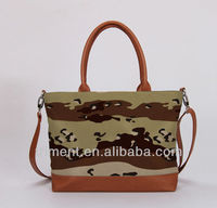 2013 New cotton and pu camo fashion hand bag