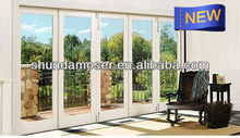 MOSER wood door with aluminum cladding, bi-fold door, new approval,