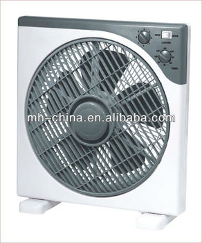12 inch electrical box fan with timer function