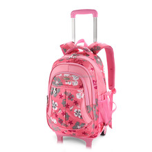 children travel trolley luggage bag backpack with wheels