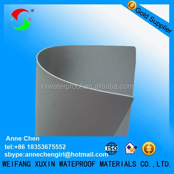 1.2mm pvc plastic and waterproofing materials