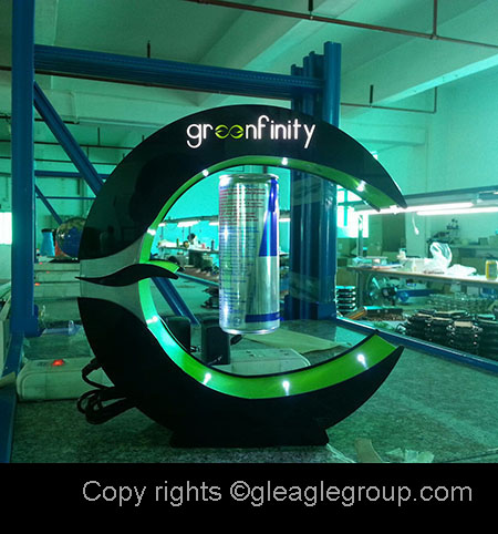 Adversting magnetic float levitating display 3d exhibition design hover lamp