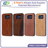 2015 Cheap Slim Design Cell Phone Wood Case For Samsung S6 Edge