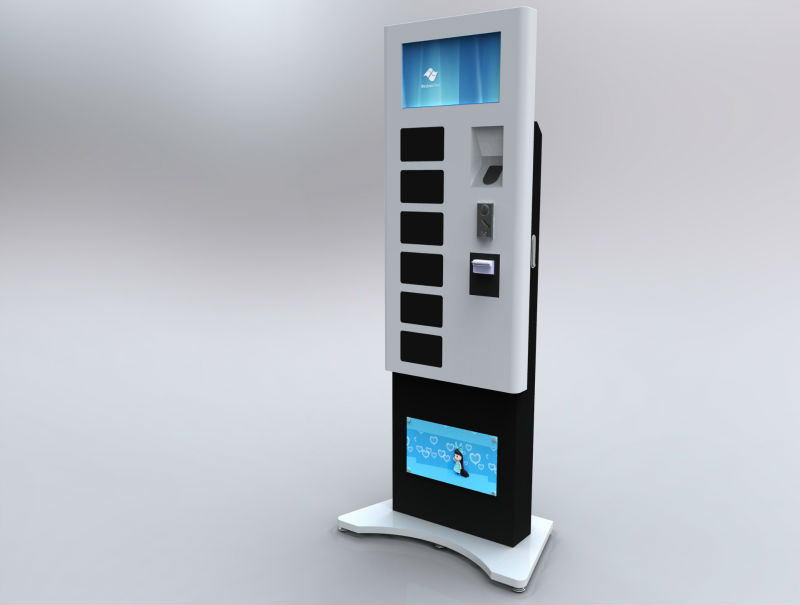 Handphone Charging Station with LED TV Advertising