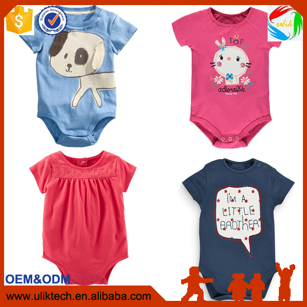 2016 China manufacturer baby rompers 100% cotton baby bodysuit hot selling online shop baby newborn clothes
