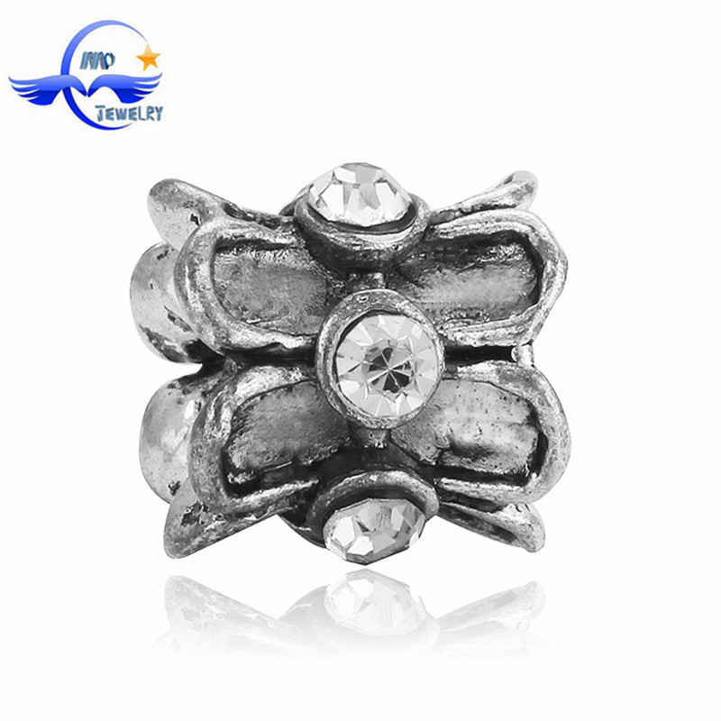 European Charms Zinc Alloy Antique Silver Beads DIY Bracelets Findings For Jewelry