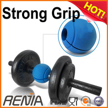 RENJIA weight lifting fitness hand grips dumbbell trainning adapter silicone barbell ball grips