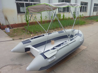 2 persons mini inflatable fiberglass boat rib boat with canopy PVC or hypalon float pontoon RIB-330 for sale!!!