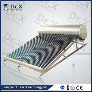 200 Liters Evacuated Tube Compact Non-pressurized solar water heater, 18tube solar collector, vacuum tube speaker