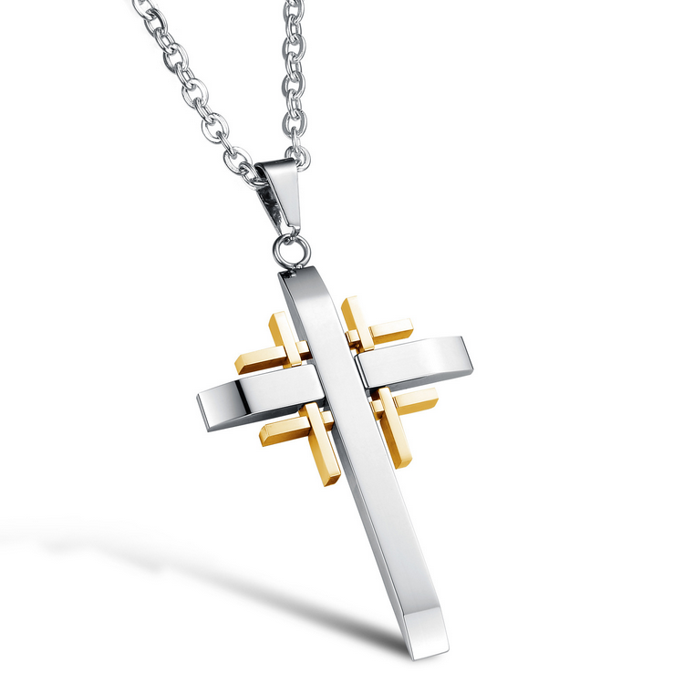 factory wholesale stainless steel jewellery market men cross blank pendant