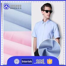 Polyamide 85% and 15% 70cm*140cm tc 80/20 32*32 130*70 58 dyed and white poplin shirting fabricforhigh stretch yarn edge