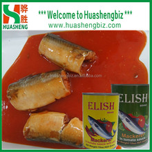 canned exotic food of canned mackerel