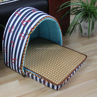 Fine quality bottom price strip dog cat bed house dog house with cage