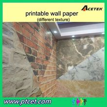 China high quality eco-solvent printable 3d embossed wallpaper