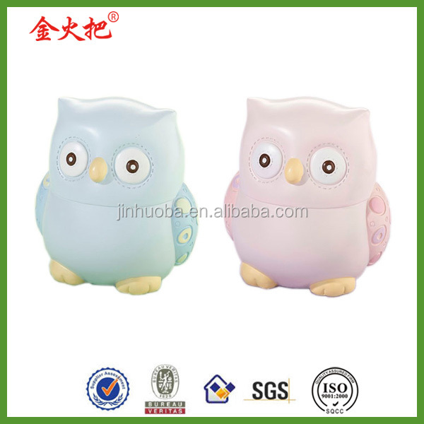 2014 hot sale baby owls cool money bank for kids