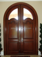arch mahogany/alder decorative front exterior double french entry wood door insulted