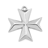 High Polished Stainless Steel Silver Tone Arrow Cross Pendant Mini Religious Charm for Belief Users Christian Jewelry