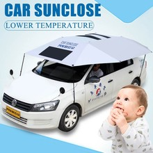 Car SUNCLOSE for women car interior sunshade big size umbrella with stand sun protection car cover for out door parking