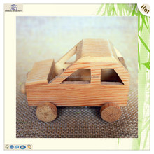 wholesale handmade unfinished kids wooden toy tractor car