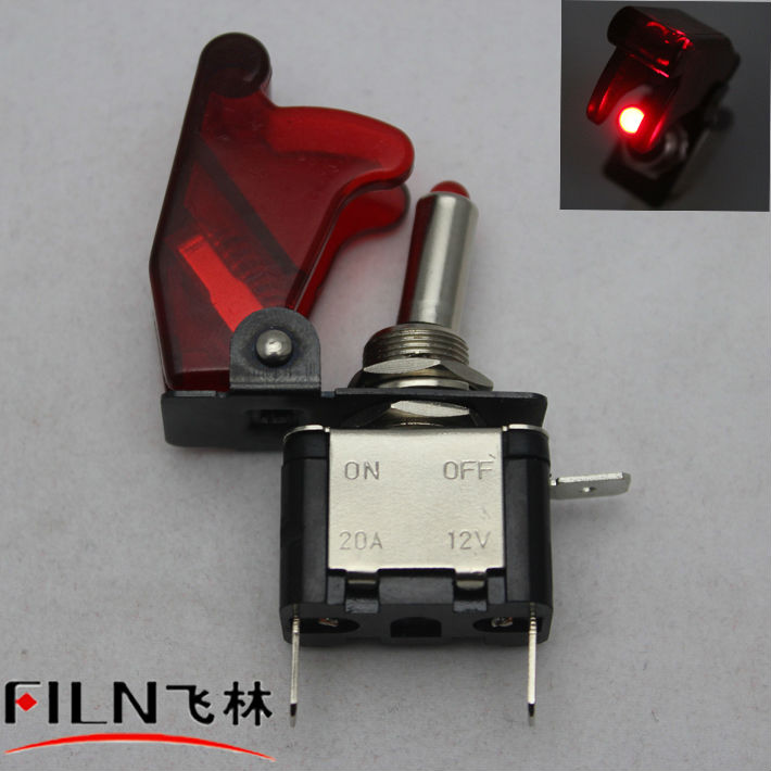 12v small on off 2 pin red toggle switch