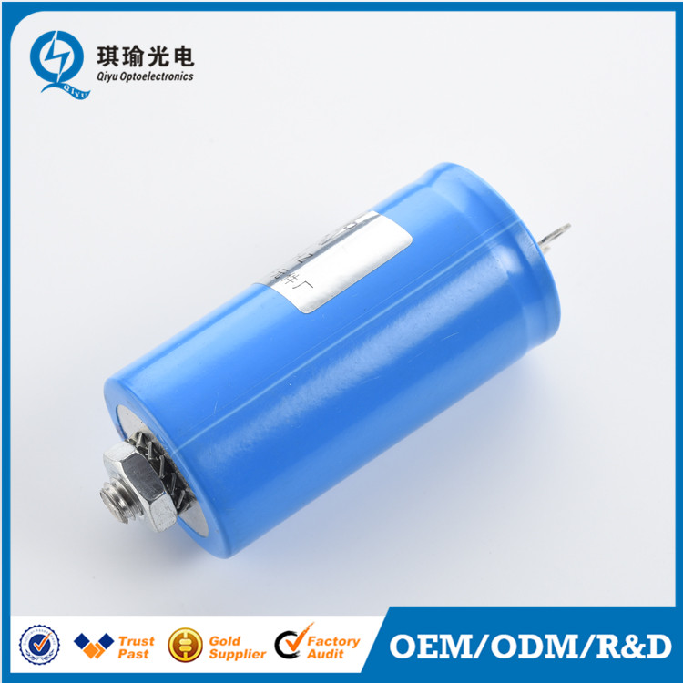 250V Flat Bottom Capacitor with M8 Screw, Pins type capacitor