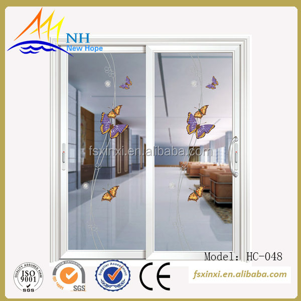 For your private design aluminum casement door, colour white with butterfly pattern